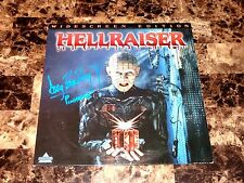 Hellraiser Rare SIGNED Laserdisc Cult Horror Movie Doug Bradley Pinhead + Photo