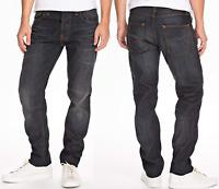 Nudie Herren Regular Tapered Fit Jeans Hose | Steady Eddie Indigo Night