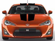 "NEW Center Rally Sport RACING STRIPES 9"" Double Vinyl Decals (Fits Toyota 86)"