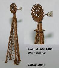 Animek 1003 Z Scale Country Windmill Laser-Cut Wood Advanced Kit *New $0 Ship
