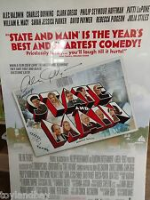 Alec Baldwin Autograph Signed State and Main 27 X 40 inch Original Movie Poster