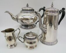 More details for vintage silver plated tea set - tea pot, coffee pot, sugar bowl, milk jug