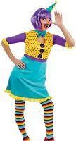 femmes mignon CLOWN CIRQUE Halloween déguisement costume tenue UK 8-18