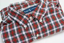 Uomo Ralph Lauren Camicia Casual Quadri Cotone XL