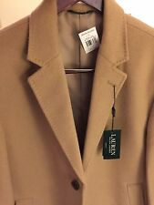 Ralph Lauren Coat Overcoat Camel Beige Size L Wool Blend Men's NWT! $400+ Retail