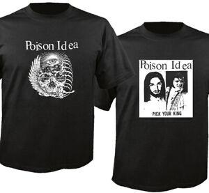 Poison Idea Portland Black Cotton T-Shirt