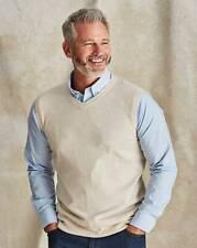 Capsule JD Williams Mens Pullover Knitted Vest Lightweight Soft Smart Beige 4XL