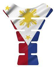 Philippines  Waving Flag 3d Gel Domed Motorcycle Tank pad tankpad protector