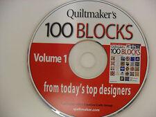 Quiltmaker's 100 Blocks - Volume 1 - CD - 2011 Creative Crafts Group quilt maker