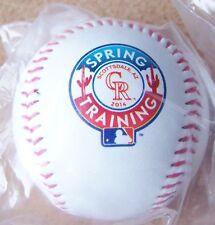 2014 Colorado Rockies Spring Training baseball ball Salt River Fields at Talking