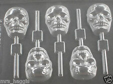 CHOCOLATE HALLOWEEN SKULL CHOCOLATE LOLLIPOP LOLLY MOULD MOLD 5 ON 1