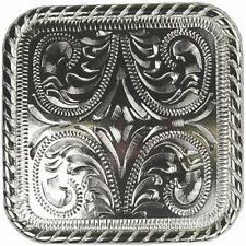 California 3 pieza conjunto de Hebilla Hansen caballo occidental Marrón Hierro Superposición de Plata Nueva