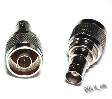 Adapter Connector N Type Male Plug to BNC Female Jack RF Coaxial - UK seller