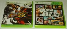 Xbox 360 Lot: Street Fighter IV 4 & GTA V 5 VIDEO GAMES (COMPLETE) Grand Theft