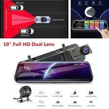 "10"" Full HD 1080P Touch Screen Car DVR Dual Lens Cameras Dash Cam Night Vision"