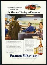 1946 streamlined future bus plane art Seagram's VO whiskey vintage print ad