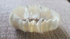 White Natural Shell Elasticated Bracelet