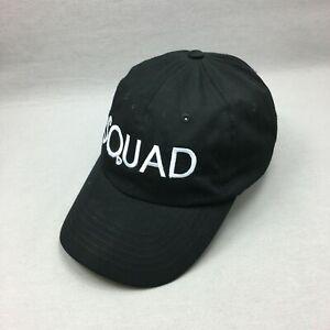 Squad Hat Cap Strap Back Black Adjustable Mens 2014