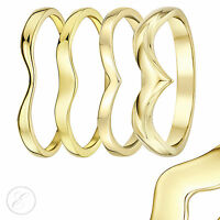9ct Yellow Gold Ring Curved Wishbone Wedding Ring Band