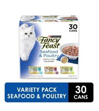 New listing Purina Fancy Feast Seafood Grilled Feast in Gravy Canned Wet Cat Food 30 cans