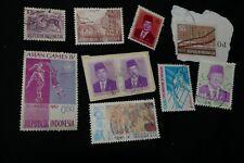 10 vintage Indonesia postage stamps postal Kiloware philately philatelic