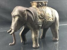 Antique Cast Iron Still Penny Bank - Elephant with Howdah by A.C. Williams