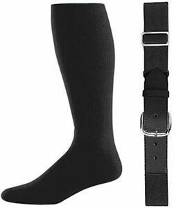 Champro Baseball Softball Belt (A062) and Athletic Socks (AS2) Combo Adult