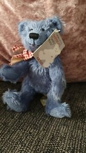 Gund Henny Bear Celebrating America's Teddy Bear Jointed With Tag Blue Henny...