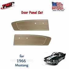 Parchment Vinyl Door Panels for 1966 Mustang by TMI - Made in the USA  In Stock