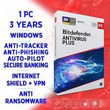 Bitdefender Antivirus Plus 2021 1 PC 3 Jahre, Aktivierungskey, VOLLVERSION +VPN