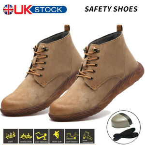 Safety Shoes Lightweight Men Woman Trainers Steel Toe Outdoor Work Boots Sneaker