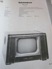 Schaltplan Telefunken FE 8 aT, 1952 Fernseher