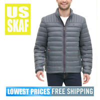 Tommy Hilfiger Men NWT LIGHT GREY Puffer Down Packable Jacket Size XL
