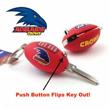 Adelaide Crows Football FLIP AFL House Key Blank Keyring-IN STOCK NOW! Free Post