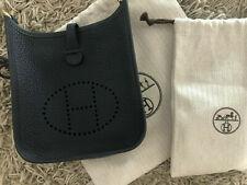 Hermes Shoulder Bag evelyne Black Leather