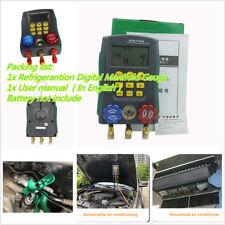 AC Manifold Digital Manifold Gauge Refrigeration System HVAC 4X1.5V Solid