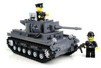 Deluxe Panzer Tank German World War 2 Complete Set made w/ real LEGO® bricks