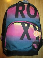 NEW ROXY BACKPACK BOOK SCHOOL STUDENT Laptop Tablet Pouch BAG Purple Glam Squad