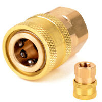 """1/4"""" Female NPT Brass Quick Connect Coupler Tool for Pressure Washer 12mm ID"""