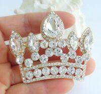 Gorgeous Crown Brooch Pin Pendant Rhinestone Crystal BP05050