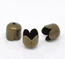 200 Perles Attache Calotte pr pour Pompon chaînette 8x8mm