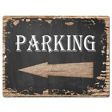 PP0465 Parking Retro Chic Sign Bar Pub Shop Store Cafe Restaurant Decor Sign