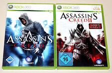 ASSASSIN'S CREED 1 & 2 - XBOX 360 - 100% UNCUT - I II ASSASSINS