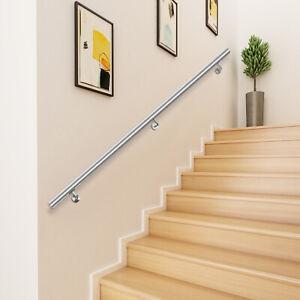 Pasamanos de Escalera Acero Inoxidable Barandillas Escalera con Soporte 3ft