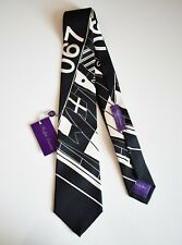 NWT RALPH LAUREN PURPLE LABEL Black BOAT MOTIF 100% SILK Hand Made Tie