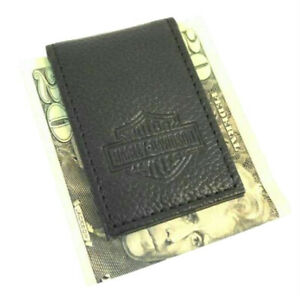 Harley-Davidson Men's Bar & Shield Embossed Leather Magnetic Money Clip MSB8385