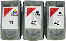 2 x PG-40 & 1 x CL-41 Black & Colour 3 Pack Ink fits Canon Pixma iP6310D Printer