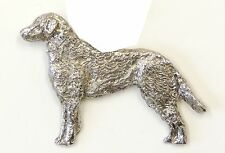 Chesapeake Bay Retriever  Brooch, Silver Plated