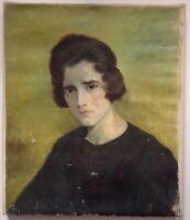 Antique Oil Painting French Postimpressionist Lady Portrait Emile BERNARD ?