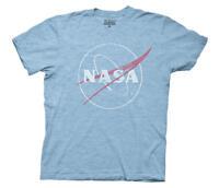 NASA Distressed Bug Logo Mens Blue T-Shirt